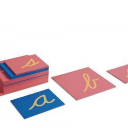 Sandpaper Letters With Box Cursive