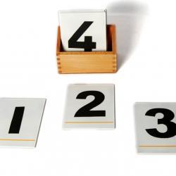 Sandpaper Numerals With Box